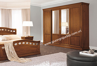 Tủ quần áo gỗ tự nhiên 06